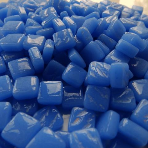 8mm Square Tiles - Cornflower Blue Gloss - 50g